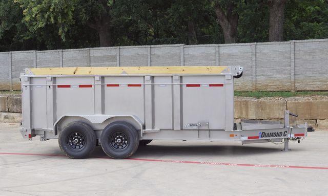 2022 Diamond C 82'' X 14' LOW PROFILE 14K DUMP TRAILER W/ BOARD BRACKETS $13,795 in Keller, TX 76111