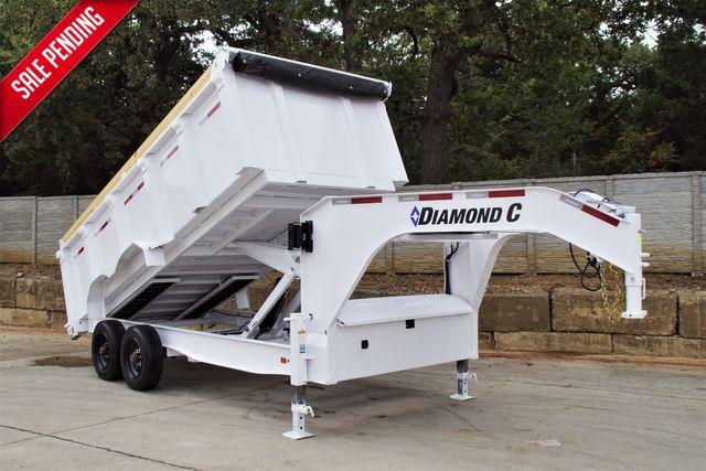 2022 Diamond C HEAVY DUTY GOOSENECK DUMP TRAILER W/ TANDEM 10,000 LB AXLES 7G BODY & SIDES $28,995