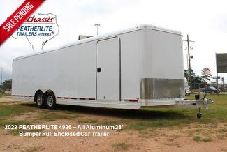 2022 Featherlite 4926 28' Enclosed Car Hauler 7' Tall 8.5' wide Aluminum in Conroe, TX 77384