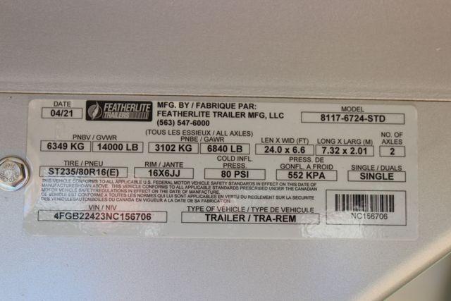 """2022 Featherlite 8117 - 24' LIVESTOCK 6'7""""W X 24'L X 6'6""""T CUT GATE 3 AIR GAPS in Conroe, TX 77384"""
